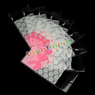 50pcs OPP Plastic package bag Pink Lace Design Cake gift Sealing Packages