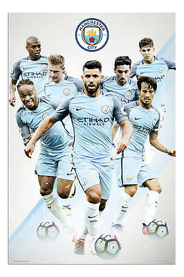 Manchester City 2016 / 2017 Players Poster New - Maxi Size 36 x 24 Inch