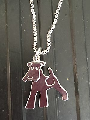 Comical TERRIER NECKLACE .... Fox - Lakeland - Airedale - Jack Russell