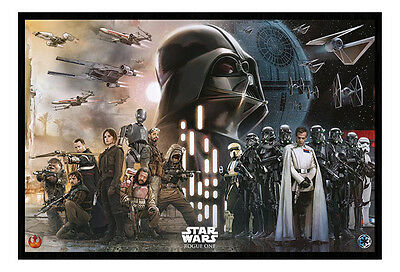 Framed Star Wars Rogue One Rebels Vs Empire Poster New