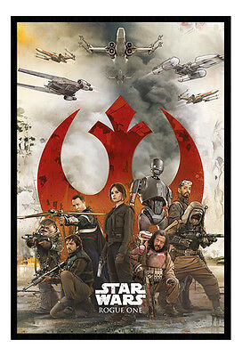 Framed Star Wars Rogue One Rebels Poster New