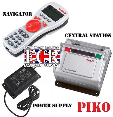 PIKO DIGITAL NAVIGATOR, CENTRAL STATION & POWER SUPPLY TRAIN RAILWAY G ANY Scale