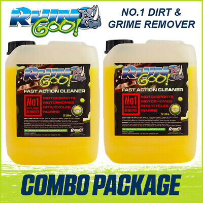 Rhino Goo Fast Action Motocross Bike Cleaner - 10 Litres(2x5 Litre) Gets Muc OFF