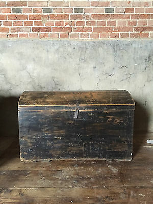 French antique dome topped trunk late 19th C