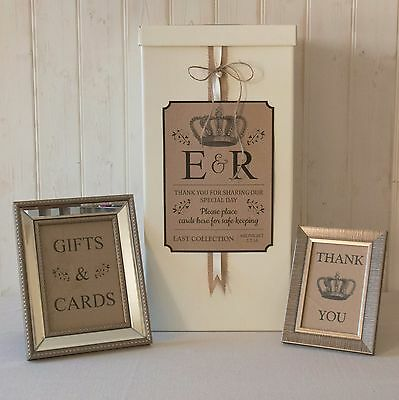 personalised WEDDING CARD POST BOX Hessian twine TRADITIONAL Gifts & Cards SIGNS