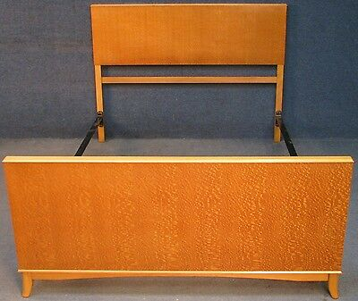 1950s Art Deco Style Maple 4ft 6 Double Bed