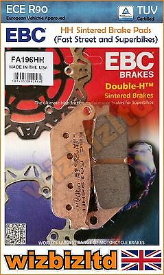 For HONDA XL 600 VR//VT Trans Alp 94-96 EBC Sintered Front Brake Pads FA196HH