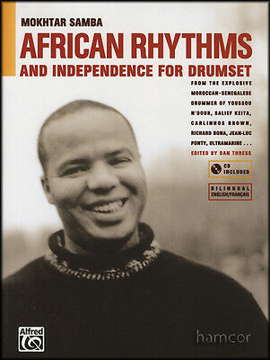 African Rhythms & Independence for Drumset Drum Music Book with CD
