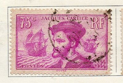 France 1934 Early Issue Fine Used 75c. 094014