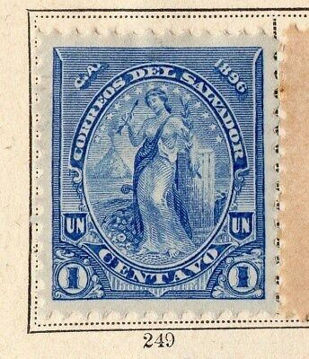 El Salvador 1896 Early Issue Fine Mint Hinged 1c. 094082