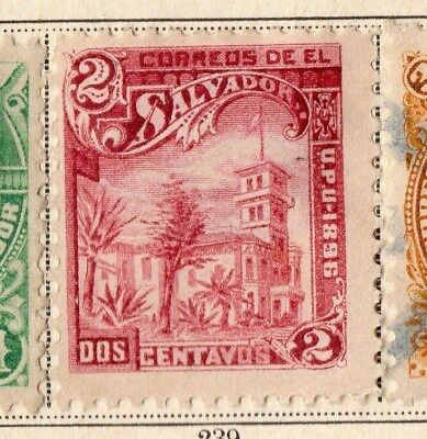 El Salvador 1896 Early Issue Fine Mint Hinged 2c. 094086