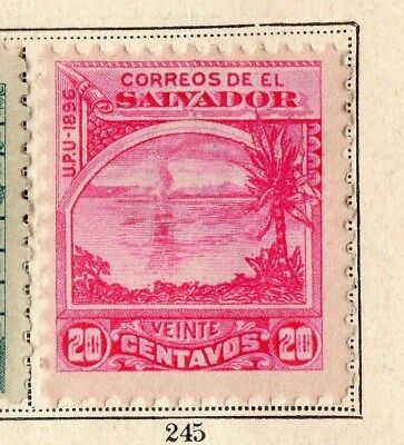 El Salvador 1896 Early Issue Fine Mint Hinged 20c. 094092