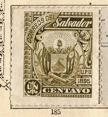 El Salvador 1895 Early Issue Fine Mint Hinged 1c. 094200