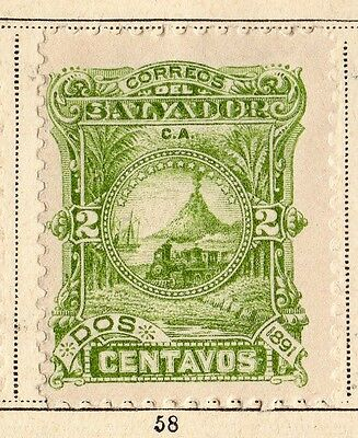 El Salvador 1891 Early Issue Fine Mint Hinged  2c. 094214