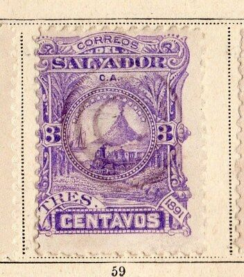 El Salvador 1891 Early Issue Fine Mint Hinged  3c. 094215