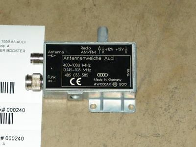99 Audi A8 Am Fm Radio Amplifier Booster Assembly