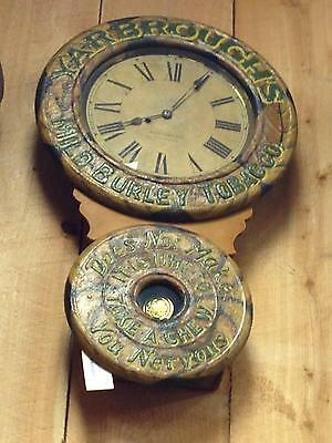 RARE Antique Baird Advertising Clock Yarbrough's Tobacco Signed Maltz Collection