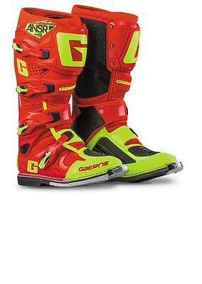 Gaerne / Answer Racing ANSR MX Off-road Boots - Sz 10 - Red/Hi Vis - 471935 LE
