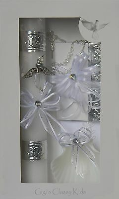 New Baptism Christening Candle Box Gift Set Shell Spanish Missal  Boys or Girls