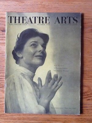 """Théâtre Arts Magazine October 1955 Ann Bancroft """"The Miracle Worker"""""""