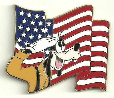 Disney pin Goofy Saluting the Flag - WDW - LE 500