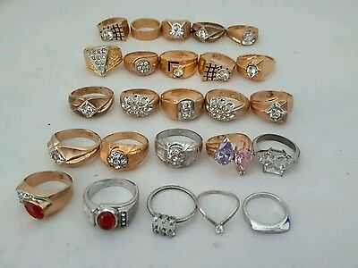 Lot of 20 gold filled and gold e.p mens & ladies womens rings & bands multi sz
