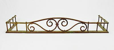 Antique Brass Fireplace Fender - Hearthware