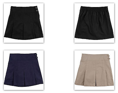 George Girls' School Uniforms Pleated w side buttons Scooter warm beige or navy