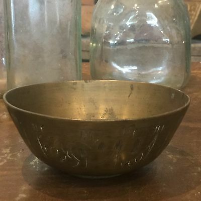 Beautiful Old Vintage Brass Bowl Dish
