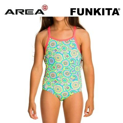 Funkita Petal Party Toddler Girls Printed One Piece , Toddler Girls One Piece Sw