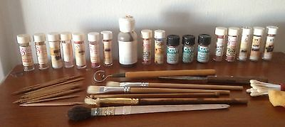 Doll Making Paints and Brushes. As New. Bulk Pack! #2  BARGAIN BUY!