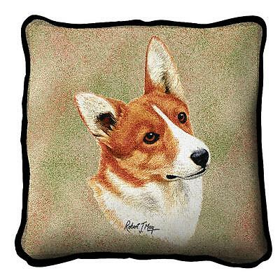 "Welsh Corgi Pillow Pure Country Weavers 17""x17"" Cotton Dog"