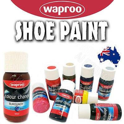 Shoe Paint + Brush Recolor Leather or Sythetic Over 20 colors Made By Waproo AUS
