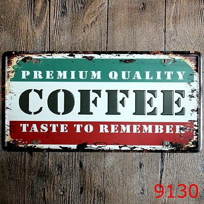 Metal Tin Sign premium coffee Decor Bar Pub Home Vintage Retro Poster Cafe ART