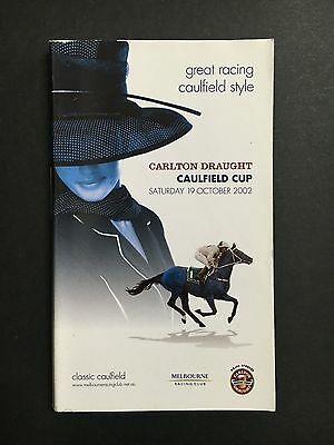 Race Book Caulfield Cup Meeting 2002