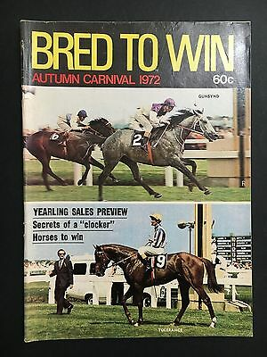 Bred To Win Race Horse Magazine Autumn Carnival 1972