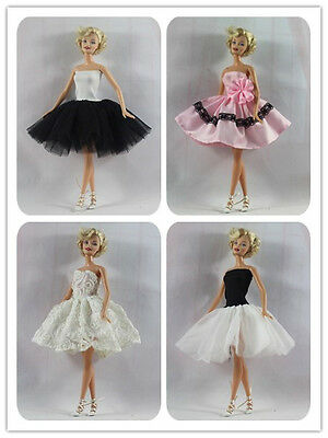 4 PCS classical Ballet Skirt tutu Dress outfit clothes For Barbie Doll