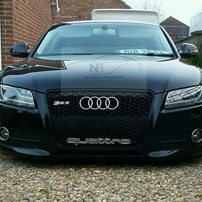 2007-2012 Audi A5 S5 To Rs5 Front Grill Black Edition *uk Stock *