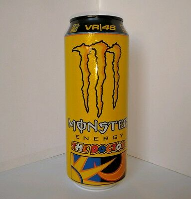 Valentino Rossi VR46 moto gp Doctor Monster Energy Drink Unopened Italy Import