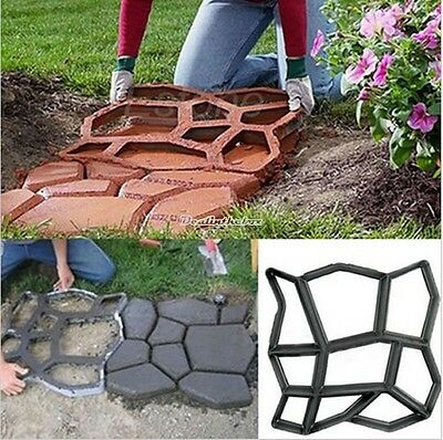 Solid Garden Walk Maker New Mould Paving Brick Pathmate Patio Concrete Slabs