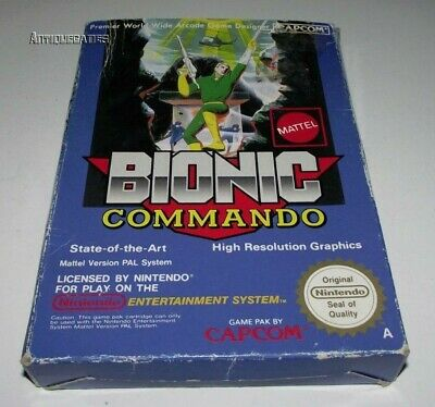 Bionic Commando Nintendo NES Boxed PAL Preloved *No Manual*