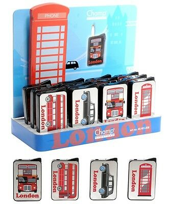 1 Briquet Miroir Londres London Rechargeable 6 X 4 Cm