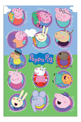 Peppa Pig Multi Characters Poster New - Maxi Size 36 x 24 Inch