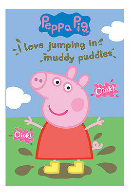 Peppa Pig Muddy Puddles Poster New - Maxi Size 36 x 24 Inch