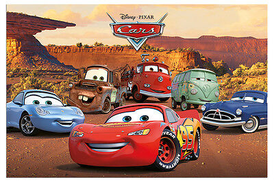 Disney Pixar Cars Characters Film Poster New - Maxi Size 36 x 24 Inch