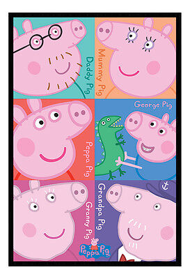 Framed Peppa Pig Characters TV Poster New
