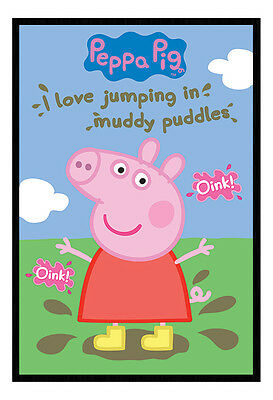 Framed Peppa Pig Muddy Puddles TV Poster New