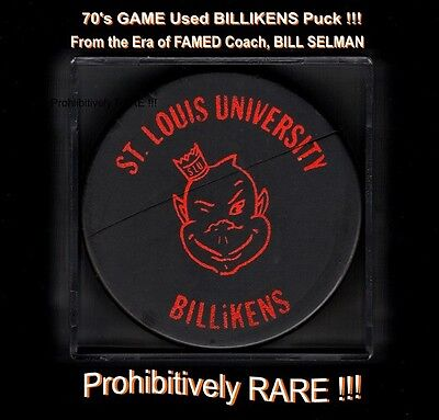 St. Louis BILLIKENS Game USED Bauer PUCK! AMAZING Find & PROHIBITIVELY Rare L@@K