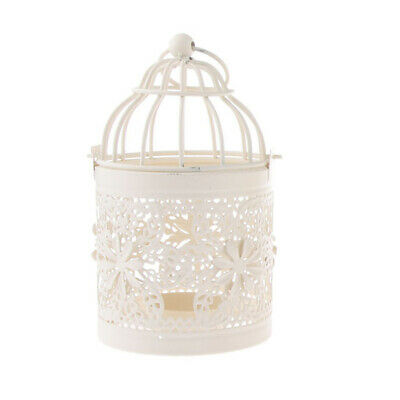 Retro Metal Birdcage Design Lantern Candle Tea Light Holder Outdoor Decor