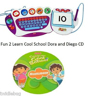 Fisher Price Fun 2 Learn Computer Cool School Software Dora and Diego Game CD